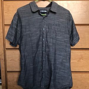 Gray Zoo York Large Button-Down Short Sleeve